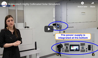 Sciencetech Highly Collimated Solar Simulators Video